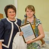 Награждение Ольги Мищенко с первым местом в номинации «Лучший плакат»