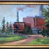 Красота индустриального пейзажа. Гладких О.В. 2019 г., холст, масло, 60х80.