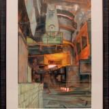 Магия огня. Горшенина Л.А. 2019 г., бумага, пастель, соус, 65х43