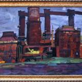 ОЭМК. Производственный пейзаж. Болотов  Ю.И. 2019 г., холст, масло, 60х80.