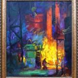 Огненная стихия металла.  Филиппов А.Г. 2019 г., холст, масло, 70х60.