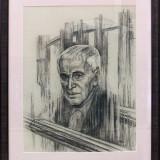 Портрет А.А. Угарова. Полозова О.П. 2019 г., тонированная бумага, уголь, 70х50