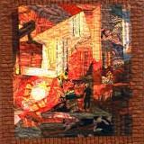Рождение стали. Бочарова В.А. 2019 г., панно, текстиль, шитье, 80х68
