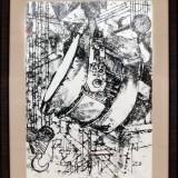 Стальковш. Галюзин А.А. 2019 г., бумага, смешанная техника, 60х80.