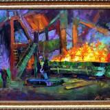 Стихия огня ЭСПЦ. Филиппов А.Г. 2019 г., холст, масло, 60х80