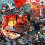 Стыковка плавок. Бочарова В.А. 2019 г., панно, текстиль, шитье, 120х100.